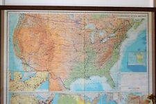 Vintage Original Large Folding Paper Map of USA 1979 Old School Geography Map
