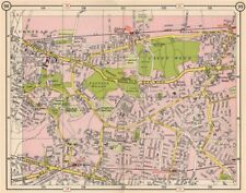 SE LONDON. Plumstead Abbey Wood Belvedere East Wickham Welling 1953 old map