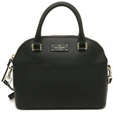 NEW KATE SPADE (WKRU4677) MINI CARLI GROVE STREET BLACK LEATHER SATCHEL HAND BAG