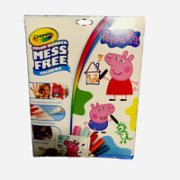 Crayola Color Wonder Peppa Pig Coloring Book & Markers, Mess Free New