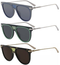 Calvin Klein Women's Flat-Top Titanium Pilot Sunglasses - CK18703S