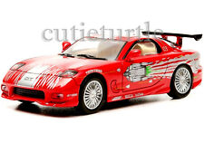 Greenlight Fast & Furious 2001 Dom's 1993 Mazda RX-7 1:43 Diecast 86204 Red
