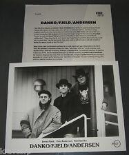 RICK DANKO/JONAS FJELD/ERIC ANDERSEN 'DANKO/FJELD/ANDERSEN' 1993 PRESS KIT