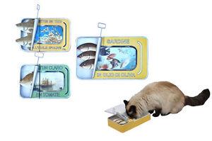 Wooden box storage box sardine tin box cat bowl novelty hinged box