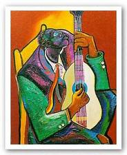 AFRICAN AMERICAN ART PRINT Them Weary Blues George Hunt