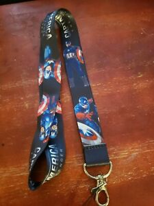 Black Captain America Lanyard