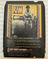 PAUL & LINDA McCARTNEY RAM 8 TRACK TAPE 8XW 3375 (TESTED, WORKS AMAZING!)