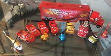Disney Collection Of 11 Diecast Vehicles And Container Truck