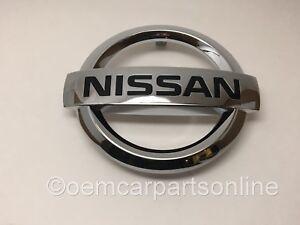 OEM 2015 2016 2017 Nissan Front Grille Emblem Versa Sedan Chrome Nameplate Plate
