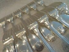 french silver-plated 12 dinner forks Christofle Vendome shells L6