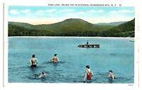 Pine Lake, Round Top in Distance, Adirondack Mountains, NY Postcard *5N(2)31