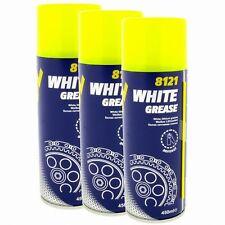 3x Mannol 8121 Weißes Fettspray 450 ml Sprühfett weiß Lithium grease