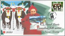 CA20-040, 2020, Maud Lewis, Pictorial Postmark, FDC, Christmas, Folk Art, cows