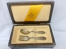 Antique Royal Child,  Baby/Child  Sterling Silver Fork & Spoon with Original Box