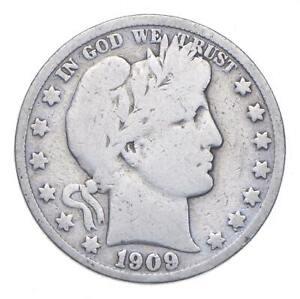 Better 1909-S - US Barber 90% Silver Half Dollar Coin Collection Set Break *116