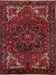 Vintage Geometric Traditional Area Rug Hand-knotted Wool Oriental Carpet 9x12