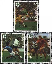 Paraguay 3432-3434 (kompl.Ausgabe) gestempelt 1981 Fußball-WM 1982 in Spanien