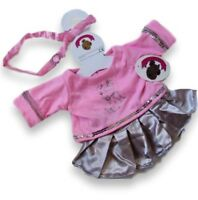 Teddy Bear Clothes fits Build a Bears Teddies IMPERFECT Pink & Silver Outfit