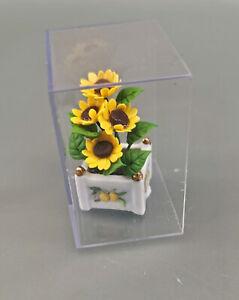 9911089 Reutter Puppenstuben-Miniatur Sonnenblume im Porzellantopf