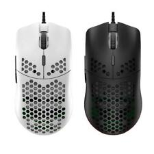 M6 Hollow Honeycomb Style Game Mouse Lightweight RGB Wired Gaming Mice 12000DPI