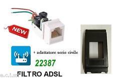 FILTRO ADSL RJ11 DA INCASSO FRUTTO PER VIMAR IDEA NERA