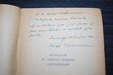 Anthologie du théâtre français contemporain - Georges Pillement - Dédicace