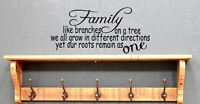 Family like Branches on a tree lounge quote  Vinyl wall art Decal Sticker