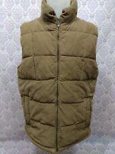 Wolsey Corduroy Puffer Vest Mens L EUR 52 Beige Cotton Wool Herringbone Lining