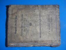 1944 Adams Motor Grader Repair Parts List 512 & 511-12 Indianapolis Indiana