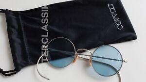 Art Craft Round Oliver Peoples Vintage Eyewear collection Sil Bono Blue lenses