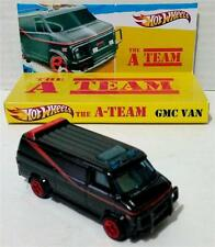 HOT WHEELS The A-TEAM TV Series Black GMC Diecast Van & Display Base Diarama