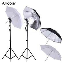 Photography Studio Video Light Continuous Lighting + 4*Umbrella 2*Stand Kit Q8S9