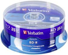 Verbatim BD-R Discos Grabables De Blu-Ray | 25 GB 6x velocidad | capa dura | 25 Discos