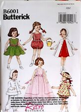 """New B6001 Butterick 18"""" Doll Clothes 1956 pattern reprint vintage style 1950s"""