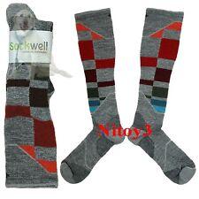 Sockwell Graduated Compression Ski Socks-Merino Wool Over Calf Men M/L (P12)