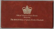 Great Britain. 1980 Special folder Fdc. 80th birthday of Queen Mother. + Coin