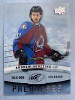 2014-15 Upper Deck Ice Premiers #110 Andrew Agozzino 704/999 Rookie Colorado Avs