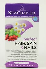 New Chapter Perfect Hair Skin & Nails Vitamins 30 Vegetarian Capsules Exp 04/21