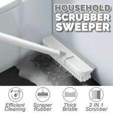idrop 2 IN 1 Household Floor Scrubber and Sweeper Multipurpose Brush and Broom