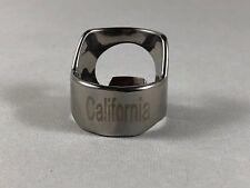 California Beer Bottle Opener Ring Stainless Steel Engraved Bar Tool