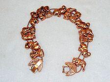 TOFA Elephant Themed Charm Bracelet ~ Classic Slider w/Bronze Tone #5430290