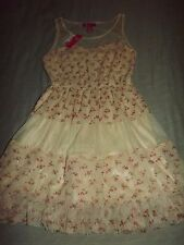 JUNIORS UP by ULTRA PINK FLORAL TULLE DRESS sz SMALL NEW