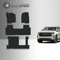 ToughPRO Floor Mats + 3rd Row Black For Chevrolet Tahoe 2nd Row Bench 2021