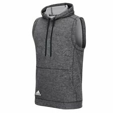 Adidas Mens Climawarm Team Issue Sleeveless Hoodie Sz 2XL Dark Grey Heathered