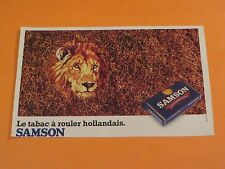 VINTAGE SAMSON ROLLING  TABACCO TABAC FRENCH LION ADVERTISEMENT CLIPPING