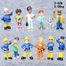 12Pcs/Lot Fireman Sam Figures Toys Playset Kids Birthday Gifts 3-6cm PVC Dolls
