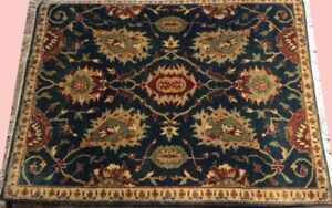 Area Rug size 60X90 CM (2X3 Ft) rugs Fine Hand-Knotted Woollen Carpet Quality