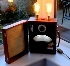 Cambridge Instruments Teak Cased dimmable table lamp, beautiful, voltmeter works