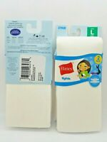 New Hanes Girls Tights 4 Pack (2 - 2 Packs) Large white