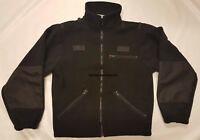 Genuine Ex Police Black Fleece Unisex Jacket Windproof  Pick Size!  (Still 26)